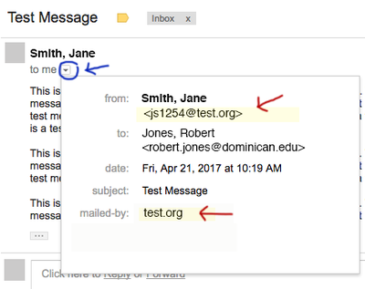 "An obviously fake (""spoofed"") Dominican email"