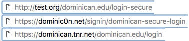 Bad Dominican URLS