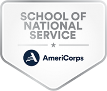 school of national service americorps badge