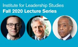 image promoting 2020 ILS Fall Lecture Series featuring Chasten Buttigieg, Jon Meacham, and Al Sharpton