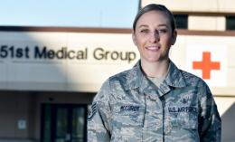 image of Yellow Ribbon OT student Cassidy McCurdy in U.S. Air Force military fatigues