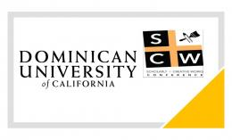 yellow, black, gray image of Scholarly and Creative Works Conference logo
