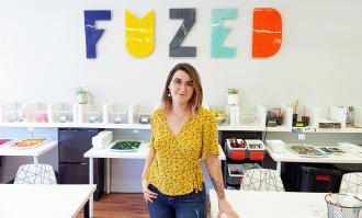 photo of fuzed art studio owner/alumna maddy turskey