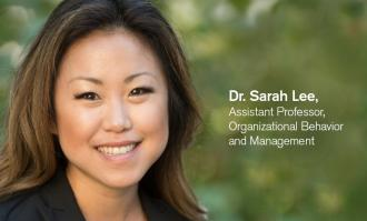 Photo of Dr Sarah Lee, asstistant professor for Organizational Behavior & Management