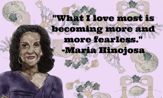 image of Maria Hinojosa quote for story on community art project