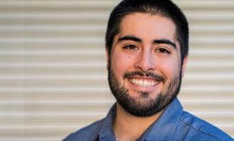 Headshot of medical school-bound Cameron Almeida '18 for alumni profile