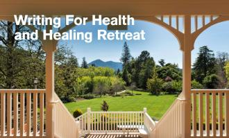 Photo of Mt. Tam from top step of Meadowlands porch stairs as image to promote Writing for Health and Healing Retreat