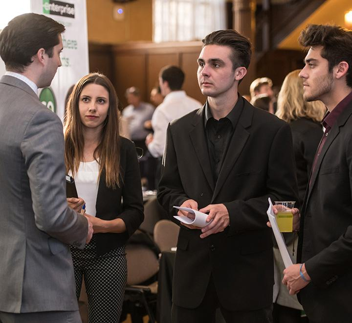 student attend a career fair