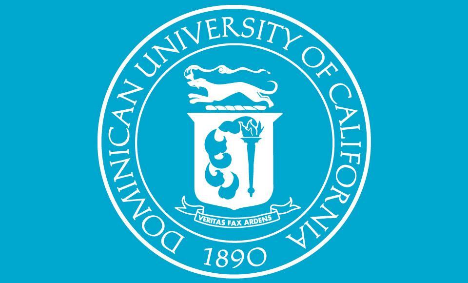 dominican blue seal image for graduation 2020