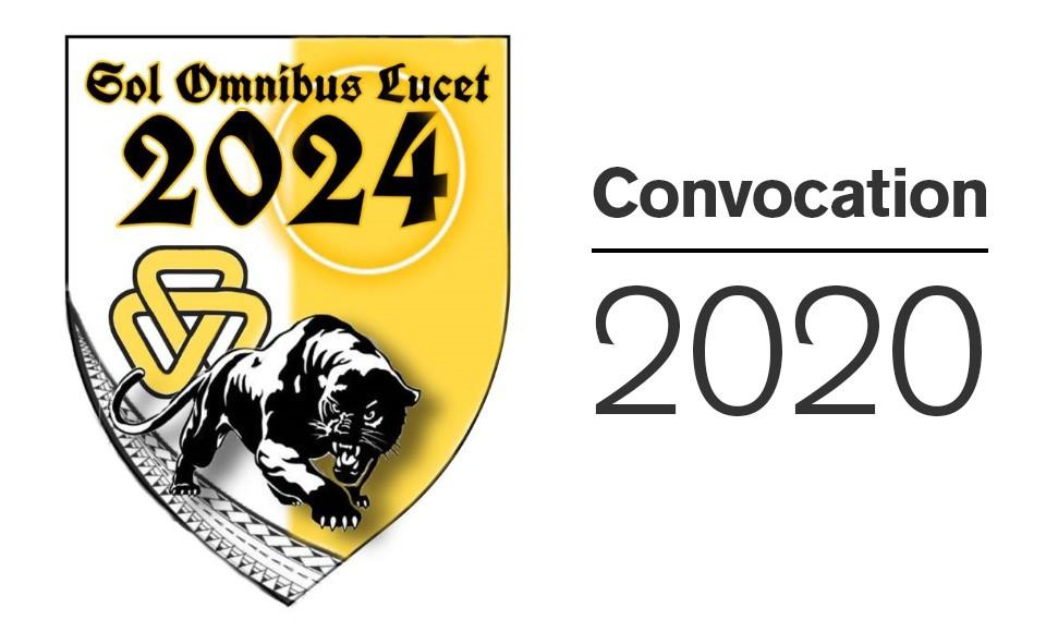 Image of Class of 2024 class shield revealed at Convocation 2020